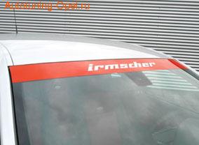 Наклейка ветрового стекла красного цвета Opel Astra H, Opel Vectra C