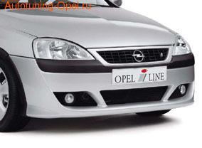 Бампер передний Opel Corsa C для автомобилей с противотуманными фарами