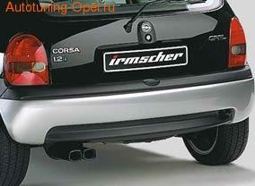 Диффузор в бампер задний Opel Corsa B