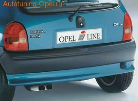 Накладка на бампер задний Opel Corsa B