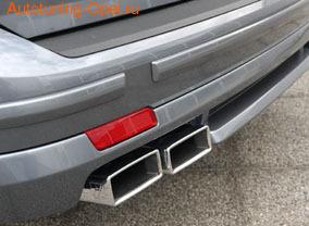 Накладка на бампер задний Opel Vectra C Универсал с вырезом слева для автомобилей с системой парктроник