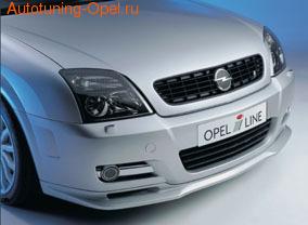 Накладка на бампер передний Opel Vectra C GTS