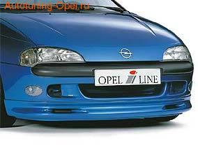 Накладка на бампер передний Opel Tigra