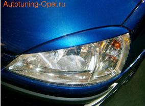 Реснички на фары Opel Corsa C