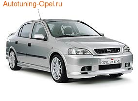Решетка радиатора Opel Astra G в жемчужно-сером исполнении