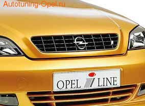 Решетка радиатора Opel Astra G в черном исполнении OPEL i LINE