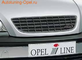 Решетка радиатора Opel Zafira A в жемчужно-сером исполнении