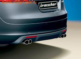Глушитель Opel Insignia Sports Tourer на две стороны с четырьмя насадками к двигателям 2,8l Turbo