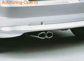 Глушитель со сдвоенной насадкой для Opel Astra G