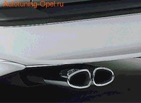 Глушитель со сдвоенной насадкой для Opel Zafira A с двигателями X16XEL, Z16XE, X16XEP, X18XE1, Z18XE, X20DTL, Z22SE