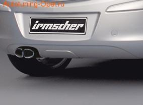 Глушитель Opel Corsa D со сдвоенной насадкой слева к двигателям 1,0 бензин (Z10XEP)