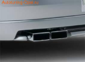 Глушитель Opel Vectra C со сдвоенной насадкой слева для Opel Vectra C бензин