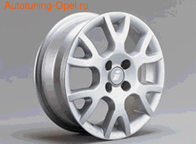 Диски литые R15 легкосплавные серебристые в стиле Gamma-Design для Opel Astra G, Opel Corsa B, Opel Corsa C, Opel Vectra B