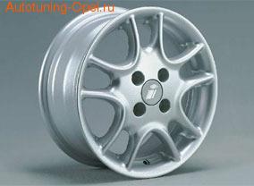 Диски литые R15 легкосплавные серебристые в стиле Twin Spoke-Design для Opel Astra F, Opel Astra G, Opel Calibra, Opel Corsa B, Opel Corsa C, Opel Tigra A, Opel Vectra B