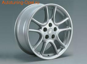 Диски литые R15 легкосплавные серебристые в стиле Twin Spoke-Design для Opel Astra G, Opel Calibra, Opel Corsa C, Opel Meriva, Opel Vectra B, Opel Zafira A