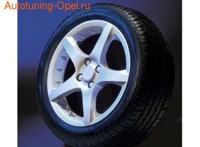 Диски литые R16 легкосплавные серебристые дизайн Opel GT Star-Design для Opel Astra H, Opel Corsa D, Opel Meriva B, Opel Vectra C, Opel Zafira B