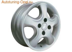 Диски литые R16 легкосплавные серебристые дизайн Softstern-Design для Opel Corsa D