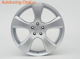 Диски литые R18 легкосплавные серебристые дизайн EvoStar-Design для Opel Astra H, Opel Corsa D, Opel Meriva B, Opel Vectra C, Opel Zafira B