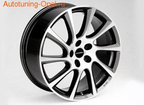 Диски литые R20 легкосплавные двухцветные дизайн Turbo Star exclusiv-Design для Opel Antara, Opel Astra J, Opel Zafira Tourer c бензиновыми двигателями 1,6T л, дизельными двигателями 1,7 л и 2,0 л