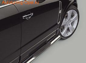 Боковые подножки Opel Antara (дорестайлинг) круглые