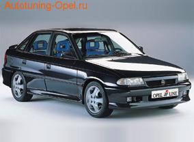 Пороги слева Opel Astra F
