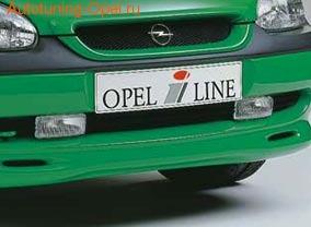 Устройство монтажа противотуманных фар Opel Corsa B