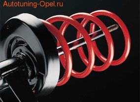 Комплект подвески на Opel Corsa C с занижением до 30 мм при нагрузке до 875-900/760 кг