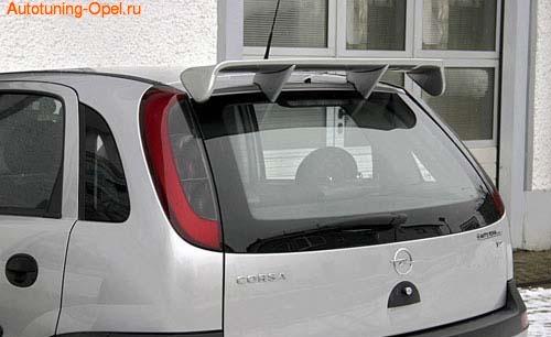Спойлер на крышу Opel Corsa C
