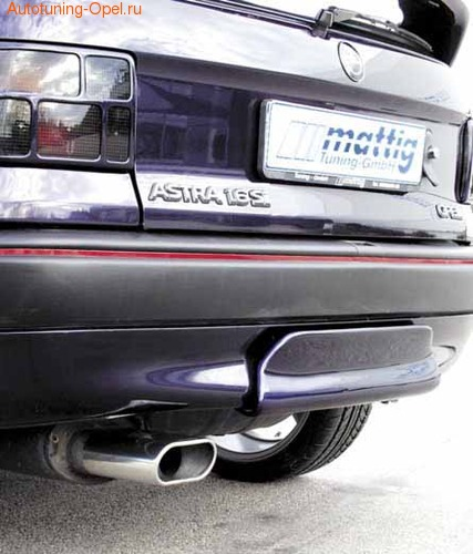Диффузор в бампер задний Opel Astra F