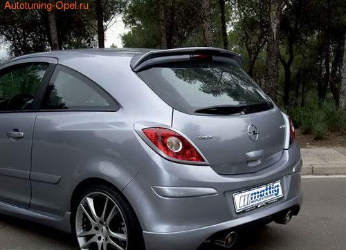 Диффузор в бампер задний Opel Corsa D