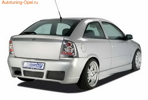 Бампер задний Opel Astra G