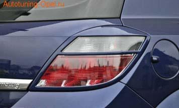 Накладки на фонари Opel Astra H