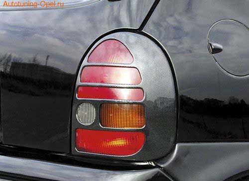 Накладки на фонари Opel Corsa B в стиле Carbon-Look
