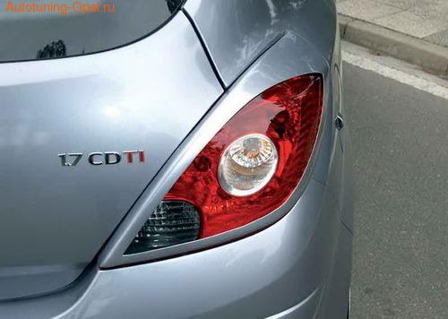 Накладки на фонари Opel Corsa D