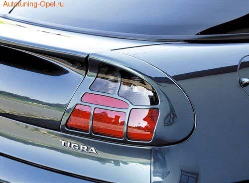 Накладки на фонари Opel Tigra в стиле Carbon-Look