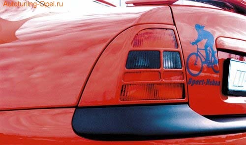 Накладки на фонари Opel Vectra B в стиле Carbon-Look