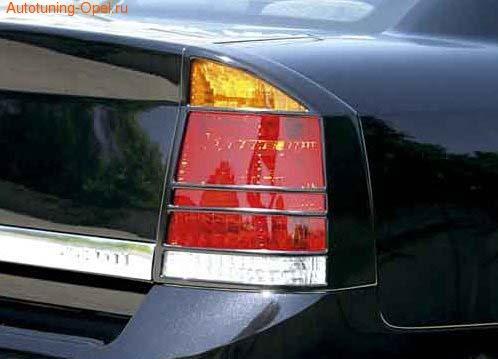 Накладки на фонари Opel Vectra C в стиле Carbon-Look