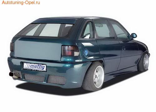 Накладка на стекло Opel Astra F