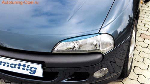 Реснички на фары Opel Tigra