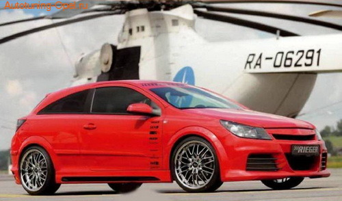Бампер передний Opel Astra H для автомобилей с омывателями фар