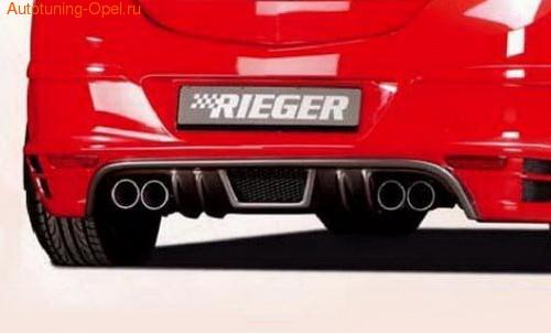 Глушитель Opel Astra H на две стороны с четырьмя насадками ко всем бензиновым двигателям