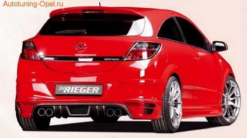 Пороги Opel Astra H GTC в стиле Carbon-Look