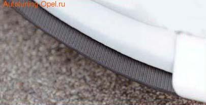 Сплиттер для накладки на бампер передний Opel Astra H Хэтчбек, Универсал в стиле Carbon-Look