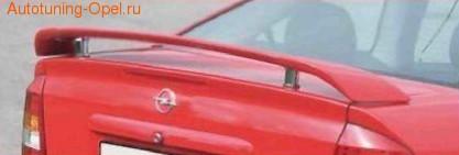 Спойлер задний Opel Astra G с хромированными элементами