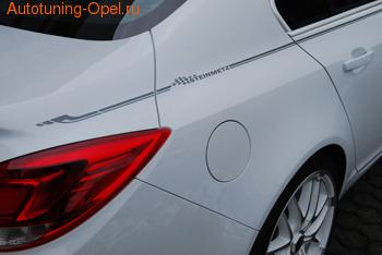 Полоса дизайнерская Opel Astra H, Opel Astra J, Opel Corsa D, Opel Insignia, Opel Meriva A, Opel Zafira B, Тип II в цвете антрацит