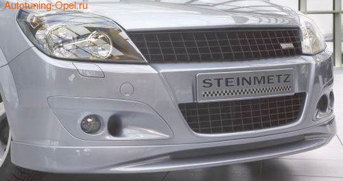 Накладка на бампер передний Opel Astra H Хэтчбек, Универсал (дорестайлинг)