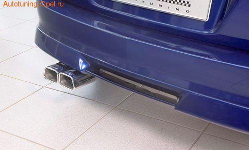Накладка на бампер задний Opel Astra H Универсал