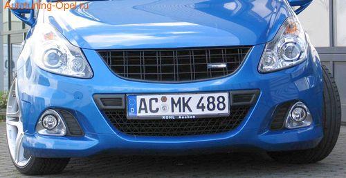 Решетка радиатора Opel Corsa D OPC