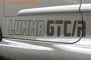 Наклейка Lumma GTC/R черного цвета для Opel Astra H