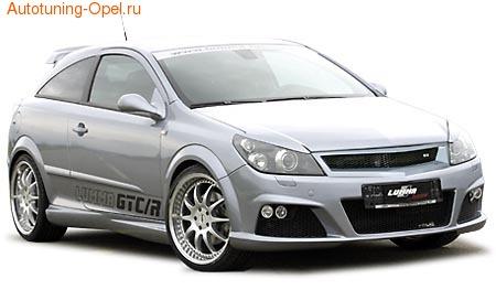 Обвес на Opel Astra H GTC в стиле GTC/R от компании Lumma